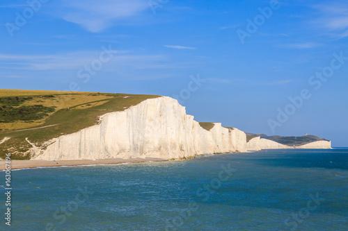 Foto op Canvas Groen blauw Seven Sisters Cliffs