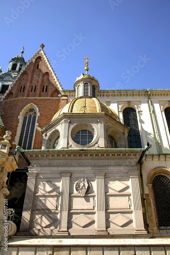 Royal Archcathedral Basilica of Saints Stanislaus and Wenceslaus  at Wawel castle. Krakow. Poland