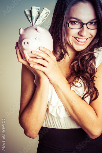 Smiling Money Woman