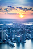New Jersey skyline with sunset over Jersey City - 163084445