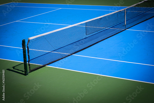 blue and green tennis court