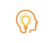 Brain Idea Icon Logo Design Element