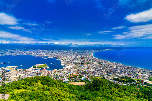 Foto op Canvas Donkerblauw 北海道 函館市 函館山からの展望