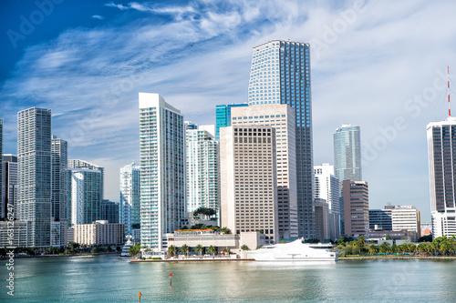 Plagát Miami skyline skyscraper