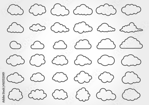 Cloud shapes collection - 163152049
