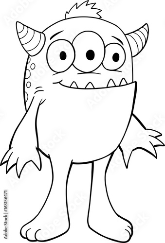 Silly Monster Vector Illustration Art