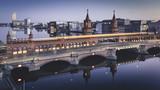 Abendstimmung an der Berliner Oberbaumbrücke