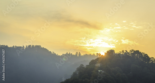 Beautiful Sunrise in mussoorie india