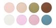 Satin blusher or eyeshadow isolated on white background