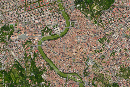 Tuinposter Rome Luftaufnahme Rom