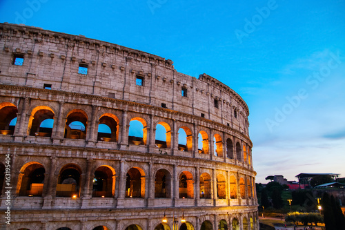 Colosseum in Rome at night. Italy, Europe