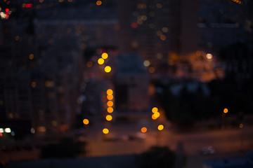 Bokeh night city background