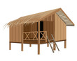 straw hut vector design - 163208832