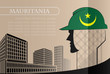 Building logo made from the flag of Mauritania ,construction working industry concept. Vector illustration - 163213674