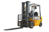 Forklift isolated on a white background - 163221697