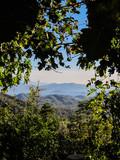 View from the mountains in Gocek, Turkey - beach town of Fethiye below