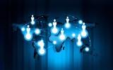 Technology communication monochrome blue background