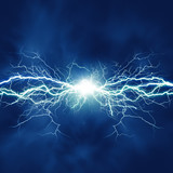 Fototapety Thunder bolt, industrial and science abstract backgrounds