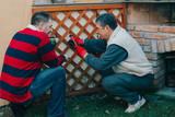 Neighbour, senior man - 163246296