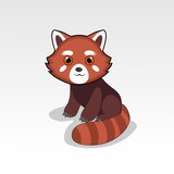 cartoon red panda