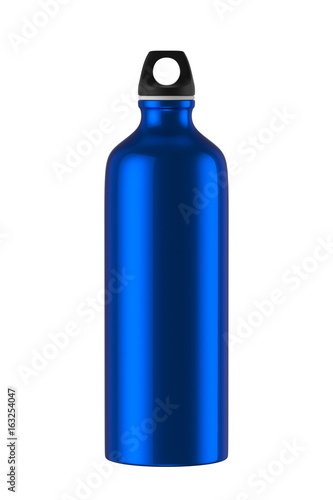 Aluminum bottle water isolated on white background, 3D rendering