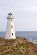 Vertical of the lighthouse at Cape Spear in Newfoundland