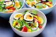 salat 3 schüsseln