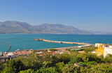 Views of the mountains and the sea side resort of Gaeta