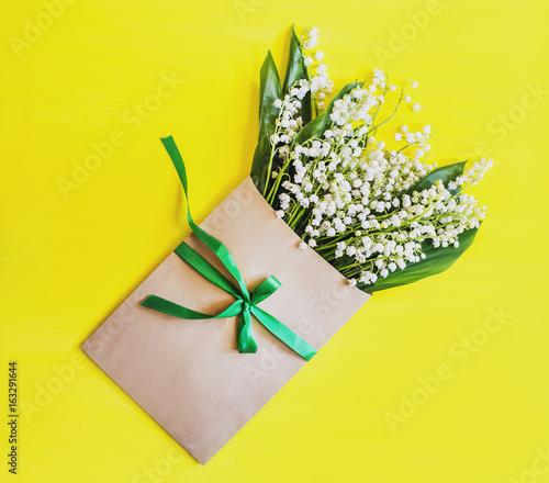 Aluminium Lelietjes van dalen Nice flower parcel
