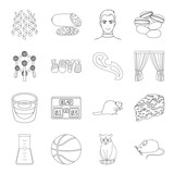 medicine, sport, animal and other web icon in outline style.sewing, celebration, cooking icons in set collection.