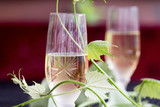 Glass of white wine - 163334894