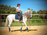 training of riding girl - 163336871