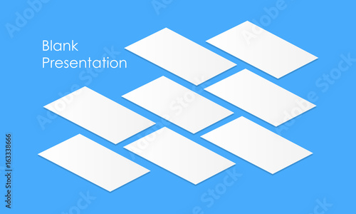 White blank app screens mockup perspective. Isometric web ...