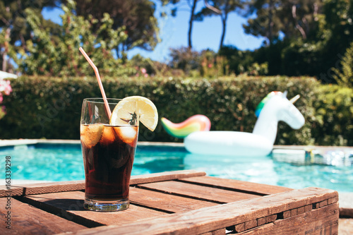 Relaxing near Swimming Pool in Vacations on Summer Poster
