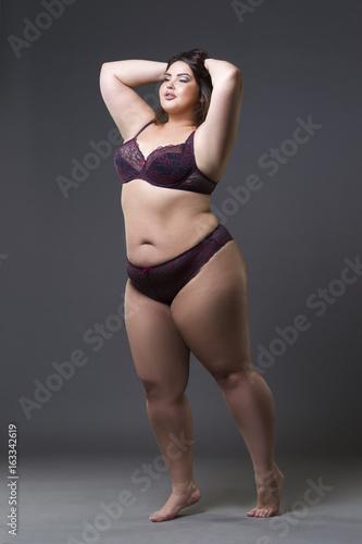Chubby female underware models
