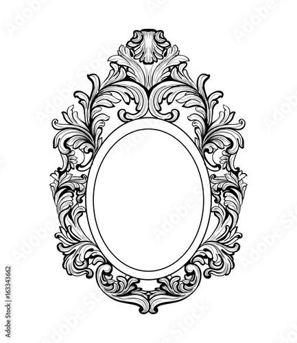 Rich baroque mirror frame vector french luxury rich for Baroque mirror canada