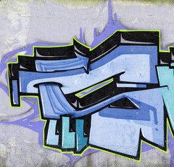 Street wall graffiti
