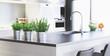 Cucina nuova con design moderno, render 3d - 163350024