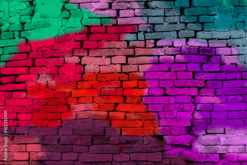 Foto op Plexiglas Graffiti Abstract Colorful brick wall background