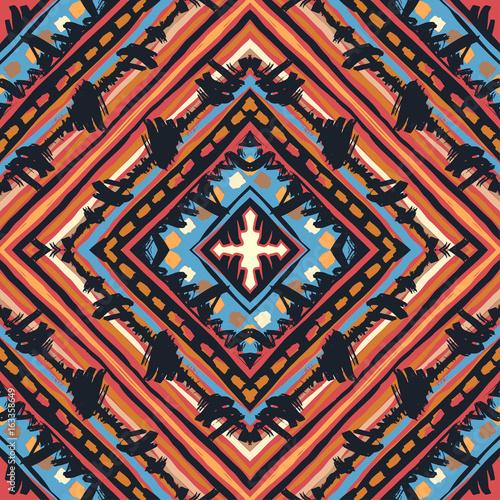 Stoffe zum Nähen Nahtlose Boho tribal Muster.