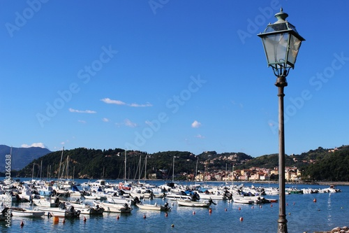 Italy: View Lerici harbour.
