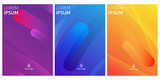 Fototapety Modern style abstraction with composition made of various rounded shapes in color