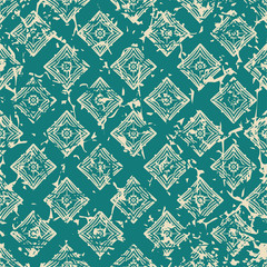 Vintage ornamental seamless textured pattern with grunge scratched effect . Element for design.