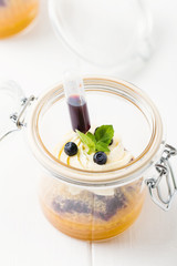 Cake in glass jar
