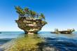 Lake Huron's Turnip Rock, near Port Austin Michigan