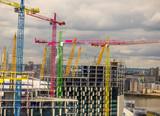 London skyline cranes - 163412475