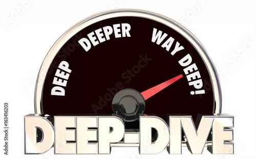 Deep Dive Deeper Details Speedometer Level 3d Illustration