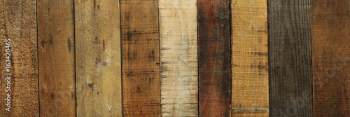 Old worn out wooden boards background - 163420465