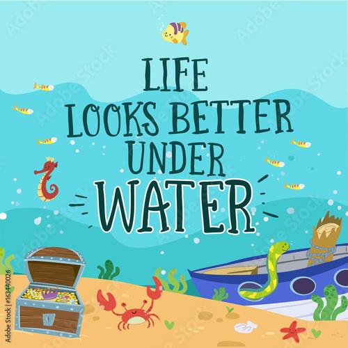 Fondo marino. Vida bajo el agua