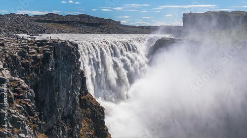Dettifoss waterfall full view
